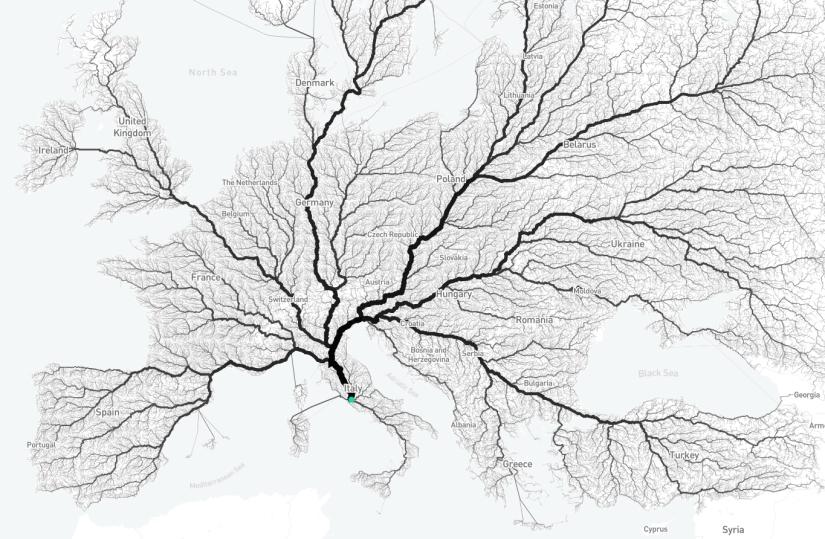 roma mapa