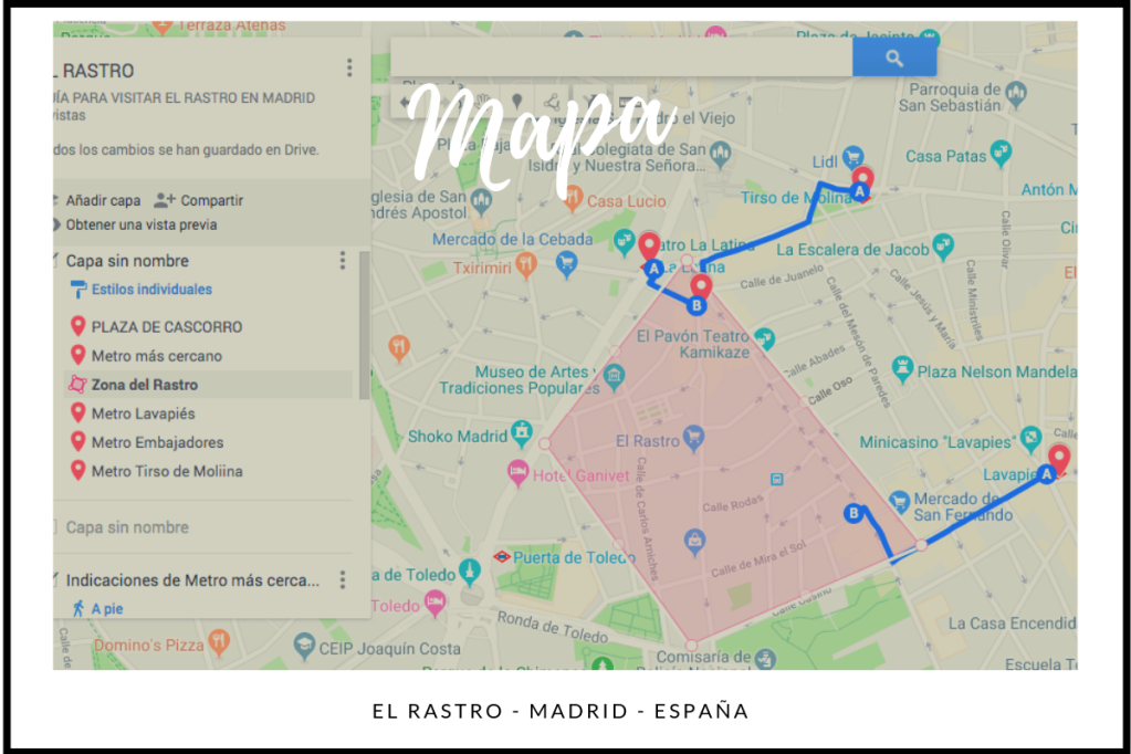 Mapa de El Rastro